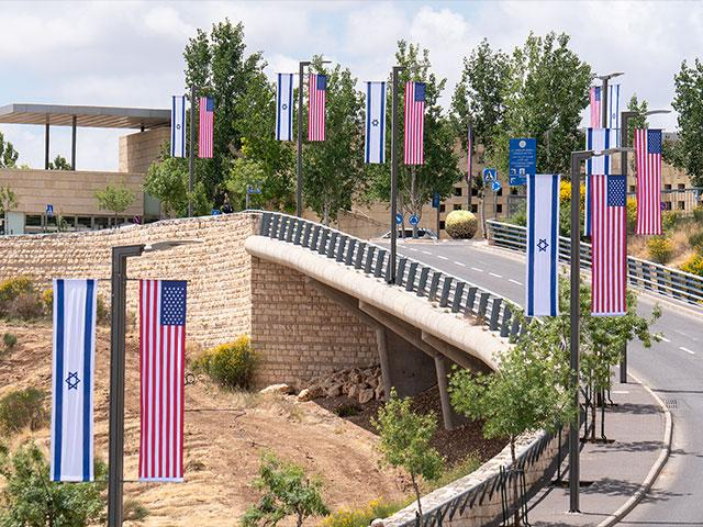 The US Embassy in Jerusalem, Photo, CBN News, Jonathan Goff