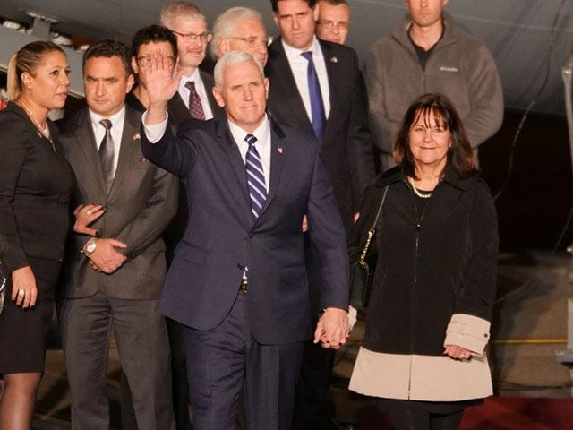 US Vice President Mike Pence and His Wife, Karen, Arrive in Israel, Photo, Jonathan Goff, CBN News