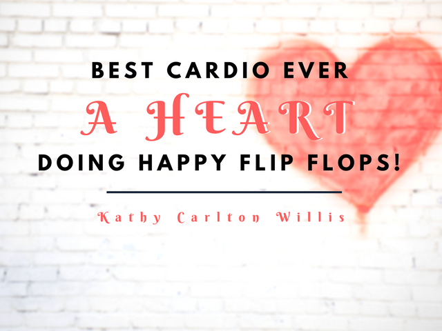 Best Cardio Ever - A Heart Doing Happy Flip Flops!