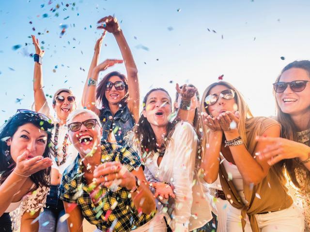 Group of women celebration