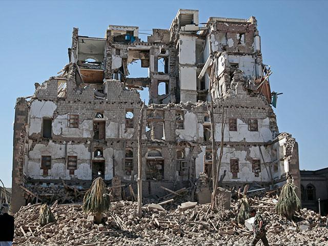 Yemen Rubble AP