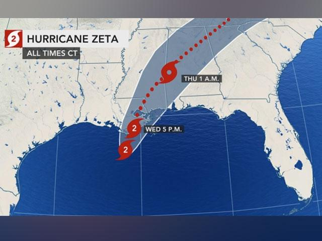 Zeta hit New Orleans Wednesday as a category 2 hurricane