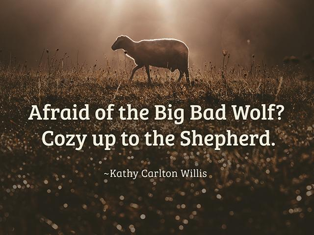 afraid of the big bad wolf? cozy up to the shepherd. - kathy carlton willis