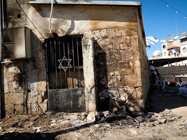 Burned Synagogue in Lod, Israel. Photo: Jonathan Goff/CBN News