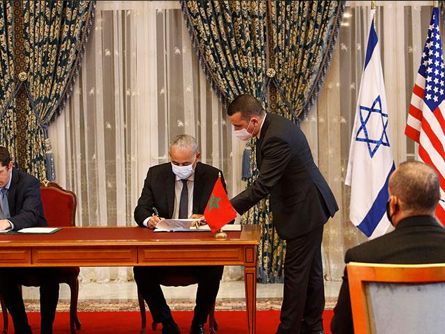 Morocco and Israel, Photo Credit: AP