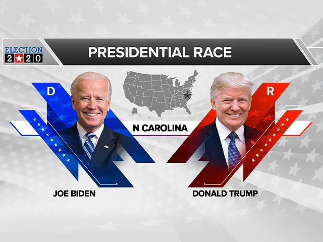 Trump and Biden in North Carolina