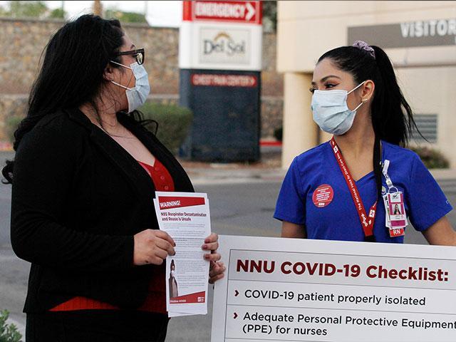 Nurses at the Las Palmas Del Sol Medical Center in El Paso, Texas.(AP Photo/Cedar Attanasio)