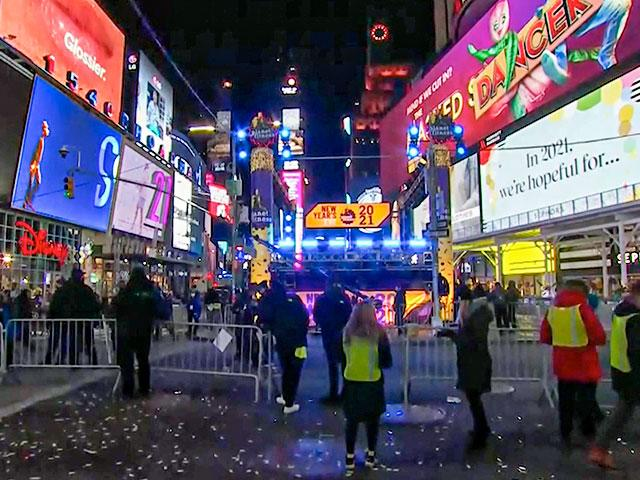 New Year's Eve in Times Square (Image: Screen capture)