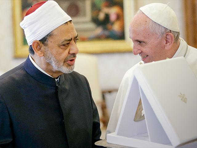 Pope Francis, Sheik Ahmed el-Tayyib, Grand Imam of Al-Azhar Mosque