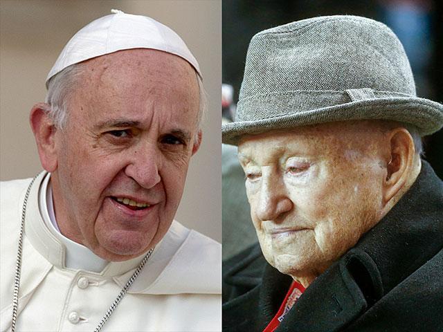 Pope Francis Truett Cathy AP