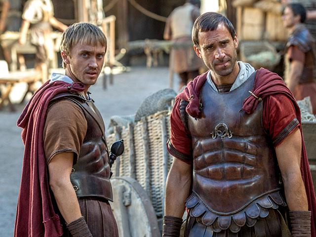 Joseph Fiennes and Tom Felton in Risen