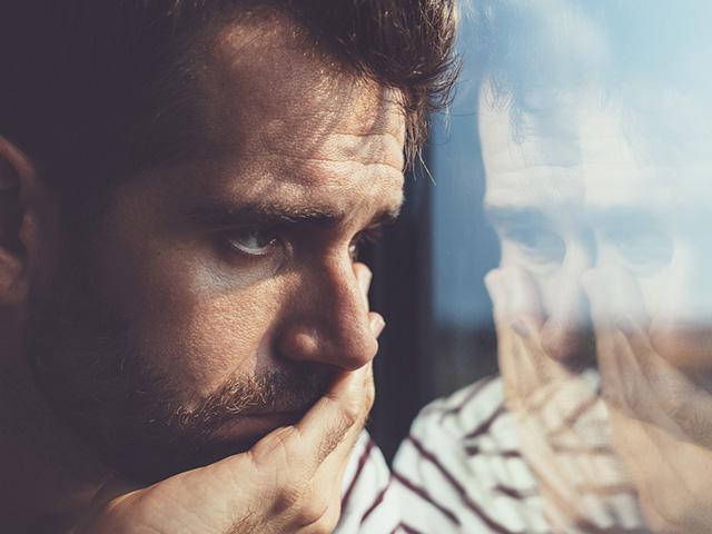 Sad lonely man