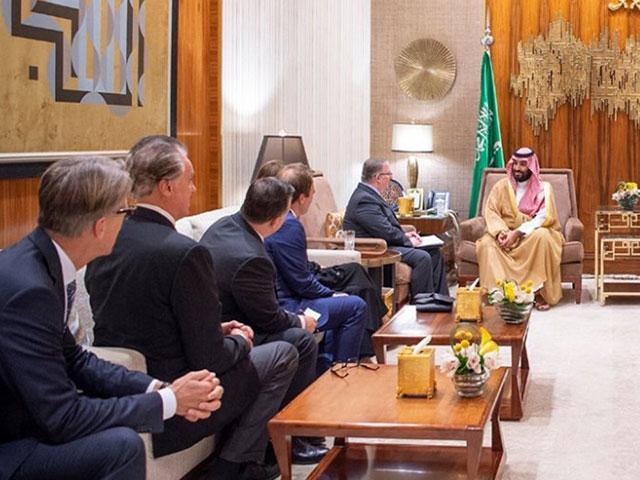 US evangelical delegation meeting with His Royal Highness Prince Mohammed bin Salman bin Abdulaziz.