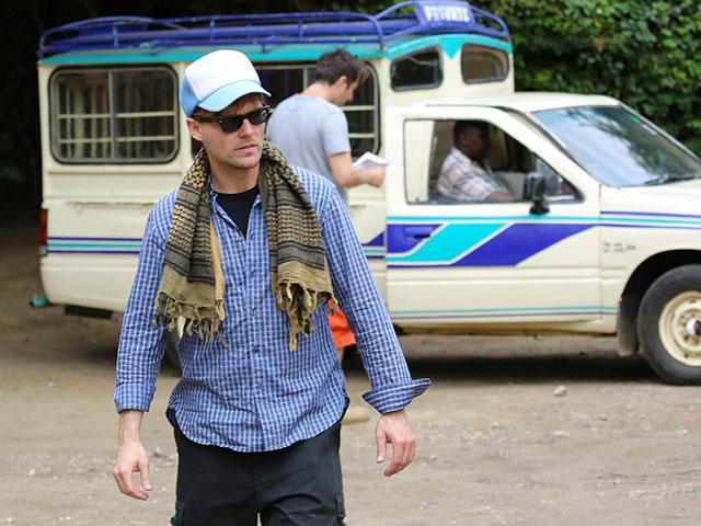 Scott Haze in Kenya, filming Mully, cr: FOR GOOD
