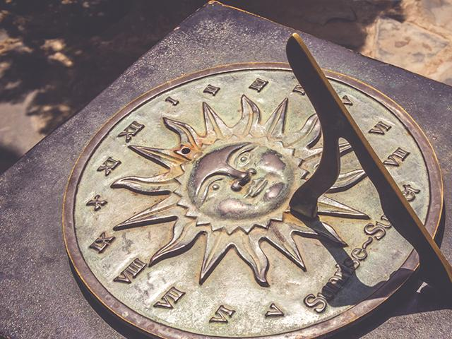 sundial antique clock