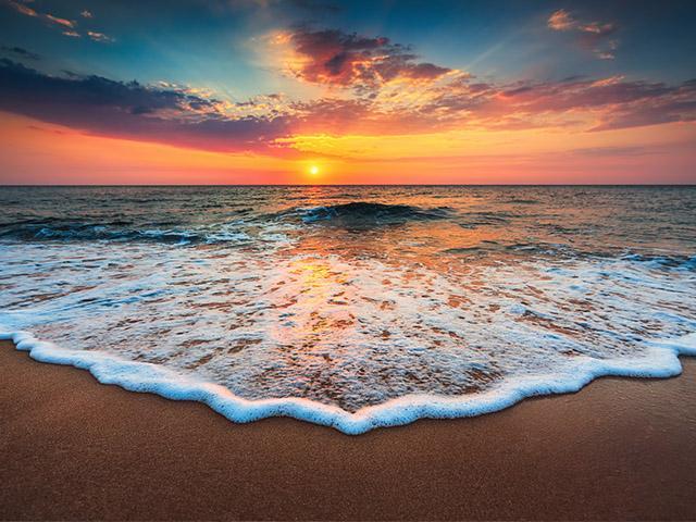 sunrise-sand-beach-foam