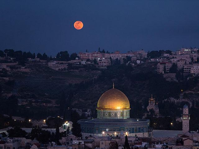 Super Blue Blood Moon over Jerusalem