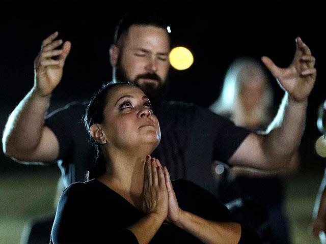 Texas Church Shooting Mourners Vigil AP