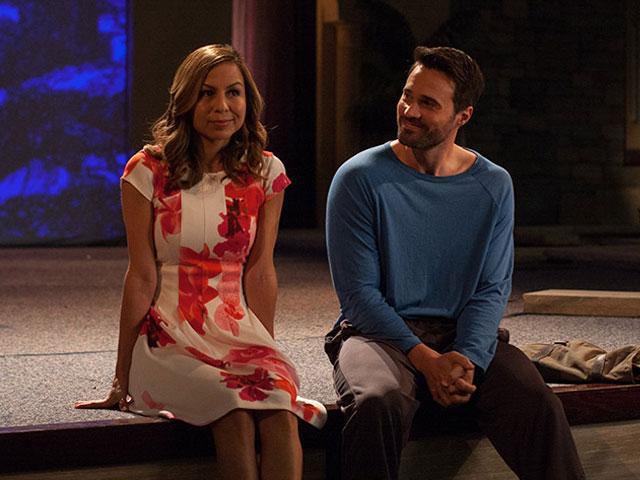 Brett Dalton and Anjelah Johnson-Reyes in The Resurrrection of Gavin Stone