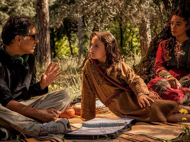 Cyrus Nowrasteh on the set of The Young Messiah movie
