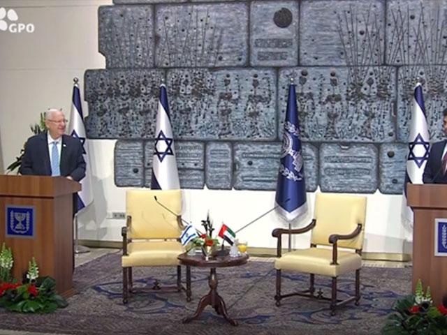UAE's New Ambassador to Israel with President Rivlin, Photo Credit: GPO