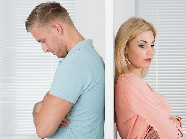 unhappy couple not talking