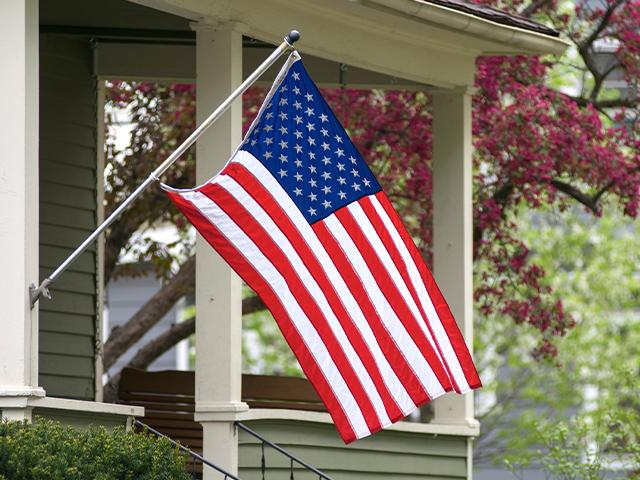 american flag on neighbor