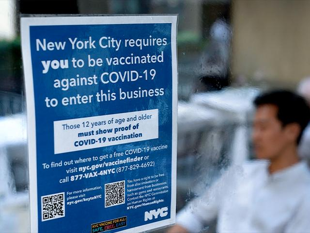 Vaccination is required to dine in restaurants in New York (AP Photo/Seth Wenig)