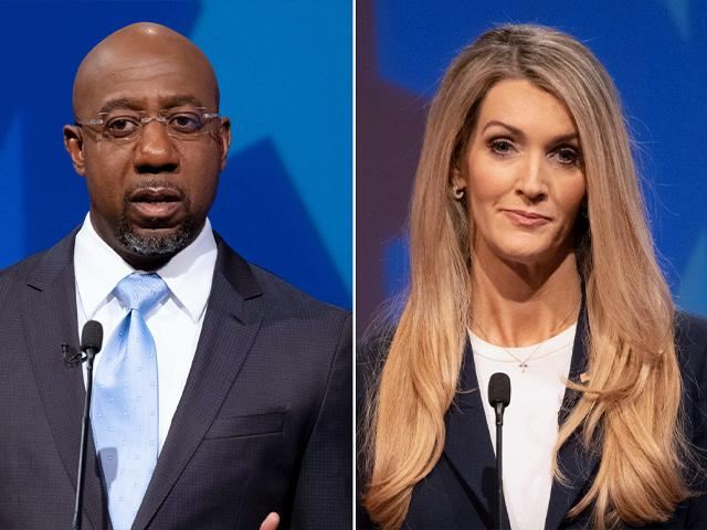 Rev. Raphael Warnock (D) is running against US Sen. Kelly Loeffler (R) in Georgia. (AP Photos)