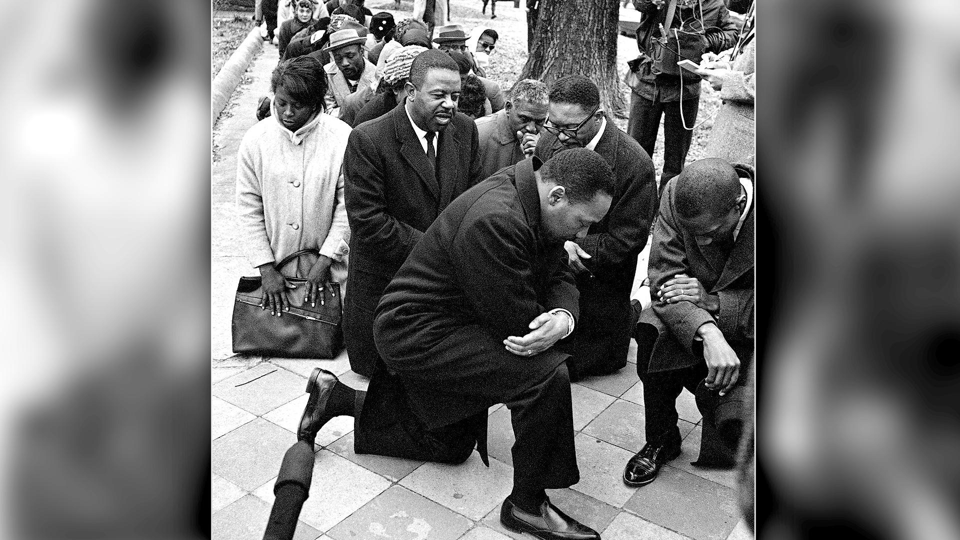 Image result for martin luther king kneeling