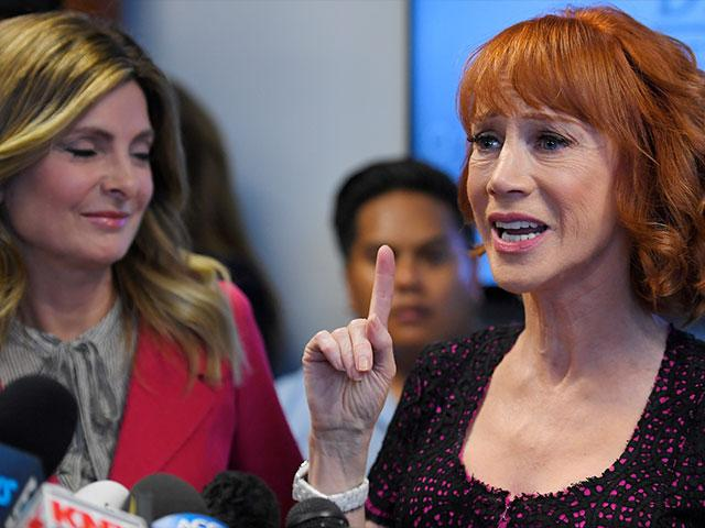 Comedian Kathy Griffin, who launched a media circus after posting a video  of her holding a replica of President Trump's decapitated head, says she's  not ...