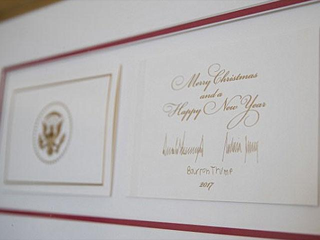 the big difference between trump and obamas holiday cards its all about christmas cbn news