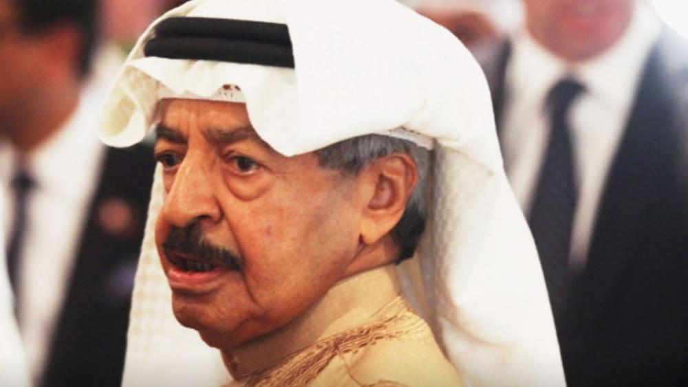 Nov. 10, 2016, file photo, Bahrain's Prime Minister Khalifa bin Salman Al Khalifa. (AP Photo/Jon Gambrell, File)