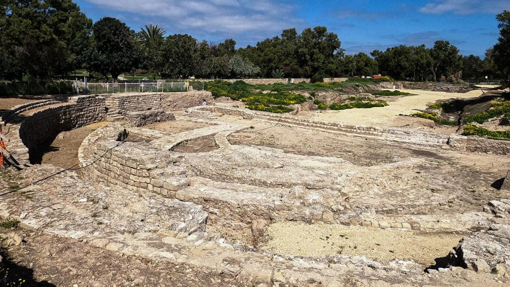 The Basilica and Theater Complex in Tel Ashkelon National Park. Photo Credit: Yaniv Cohen Nature and Parks Authority