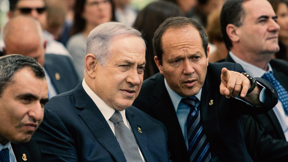 Israeli Prime Minister Benjamin Netanyahu and Jerusalem Mayor Nir Barkat, Photo, Associated Press
