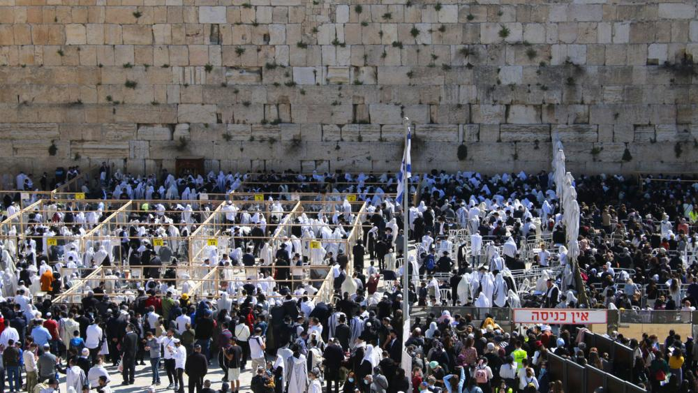 Birkat Kohanim (Priestly Blessing) event that took place at the Western Wall,  Photo Credit: The Western Wall Heritage Foundation