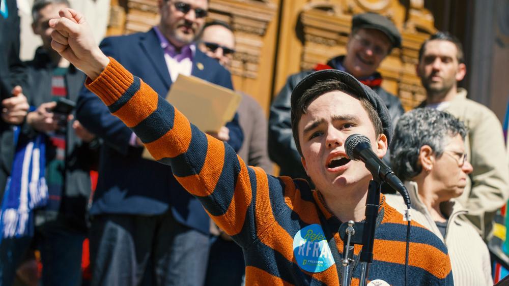 Boy Protesting RFRA