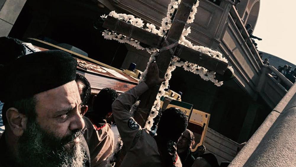 Cairo Christian funeral