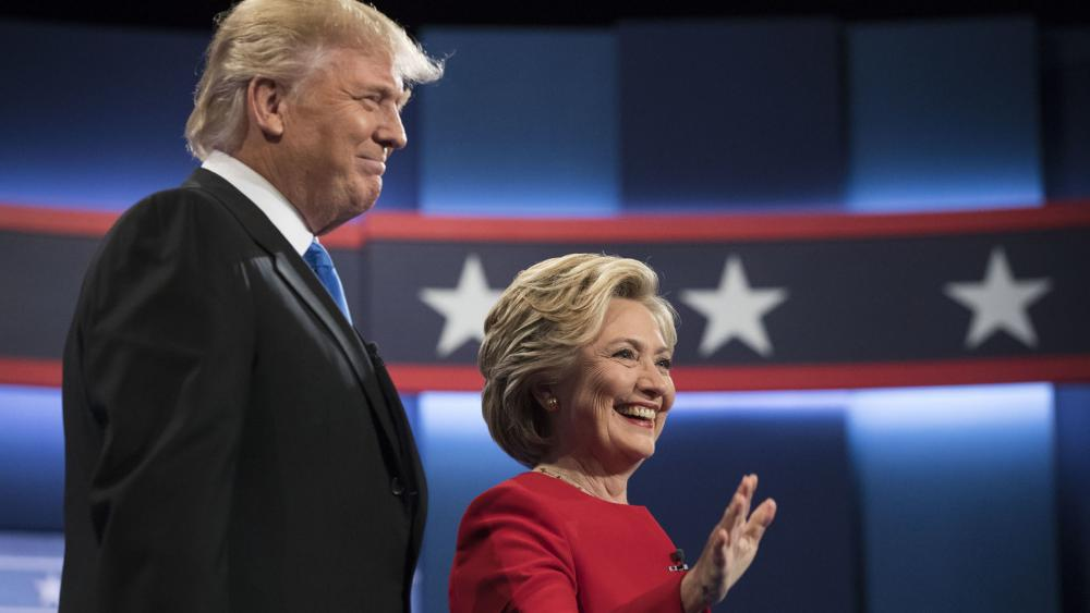 Hillary Clinton and Donald Trump at the First Presidential Debate
