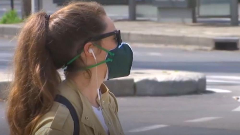 Girl Wearing Mask for Coronavirus