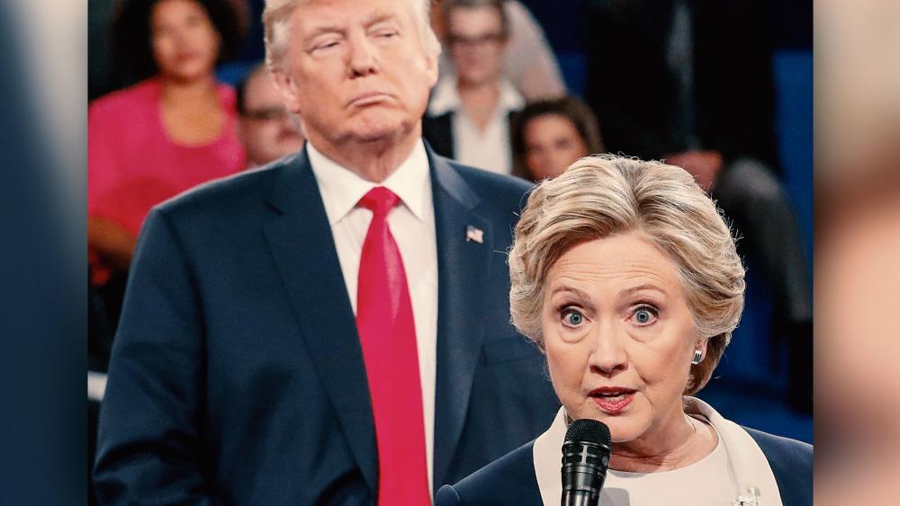 Donald Trump Hillary Clinton Debate 4 AP