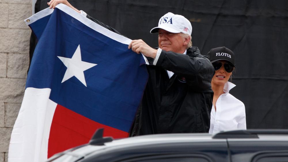 Donald Trump Texas Flag AP