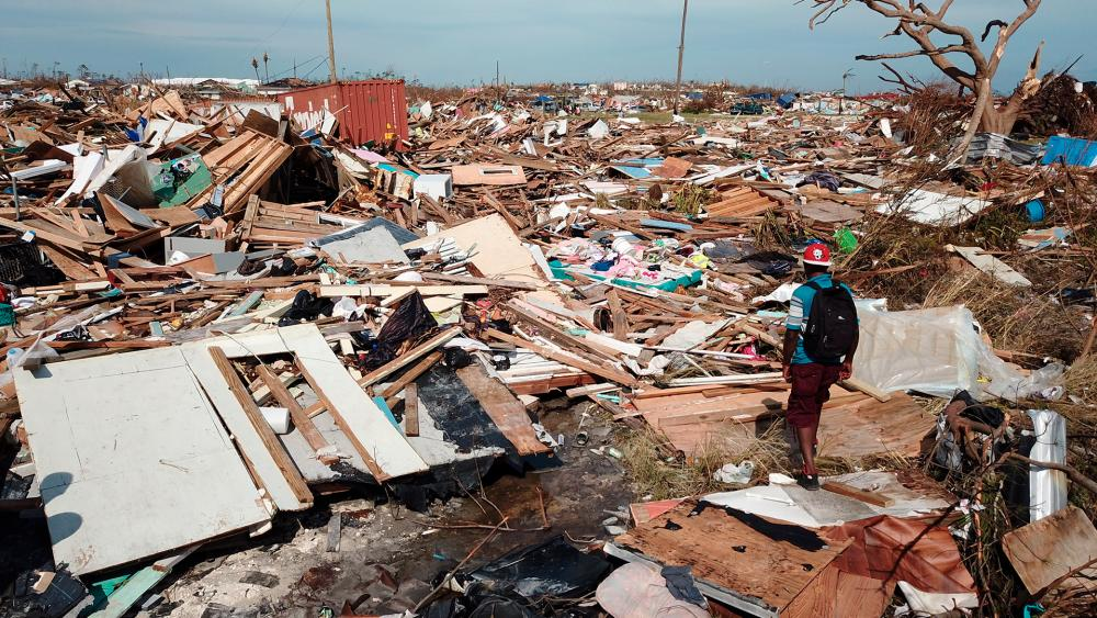 The extensive damage and destruction in the aftermath of Hurricane Dorian is seen in The Mudd, Great Abaco, Bahamas, Thursday, Sept. 5, 2019