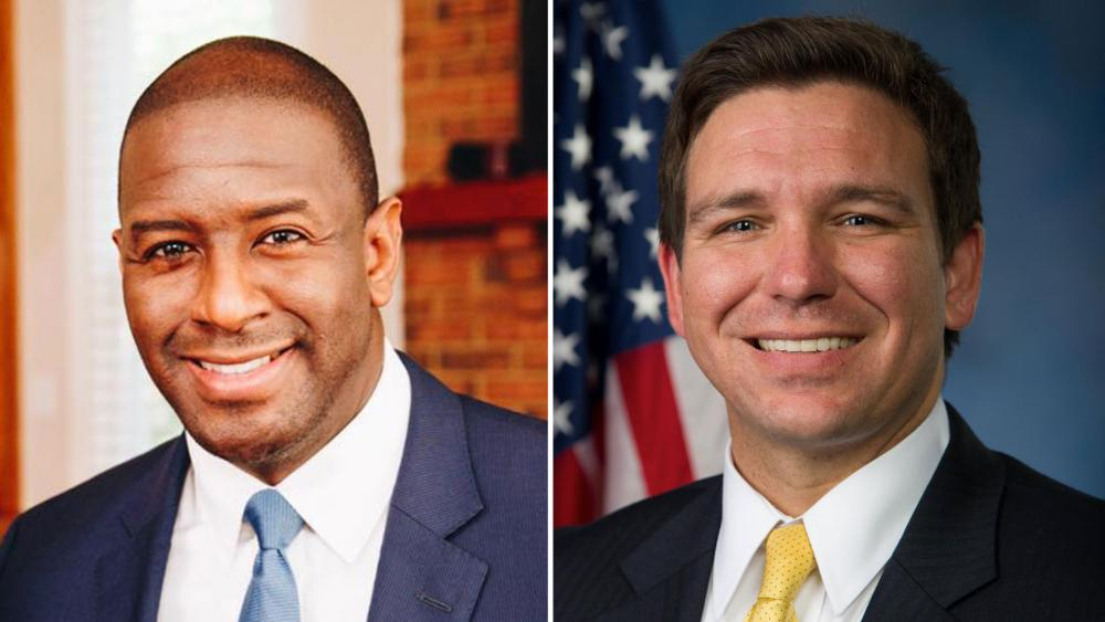 Democrat Andrew Gillum, left, congratulated Republican Ron DeSantis after a hard fought race to see which candidate would be the next Florida governor.