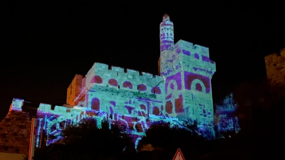 Photo credit: CBN News - Jerusalem's Follow the Light, The Tower of David