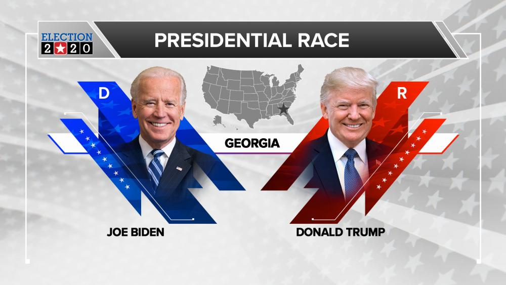 Trump and Biden in Georgia