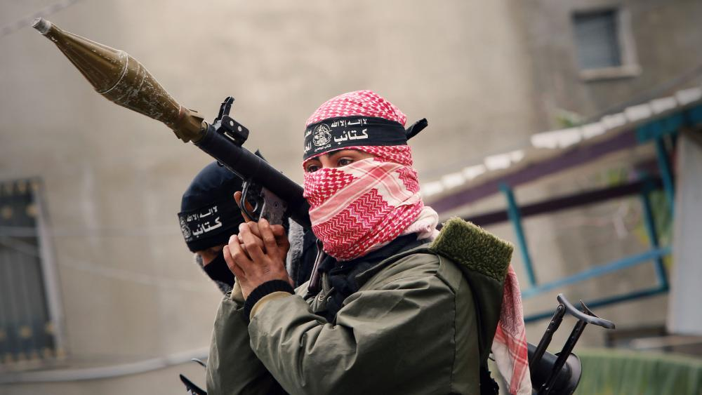Hamas fighter, Photo, AP archives