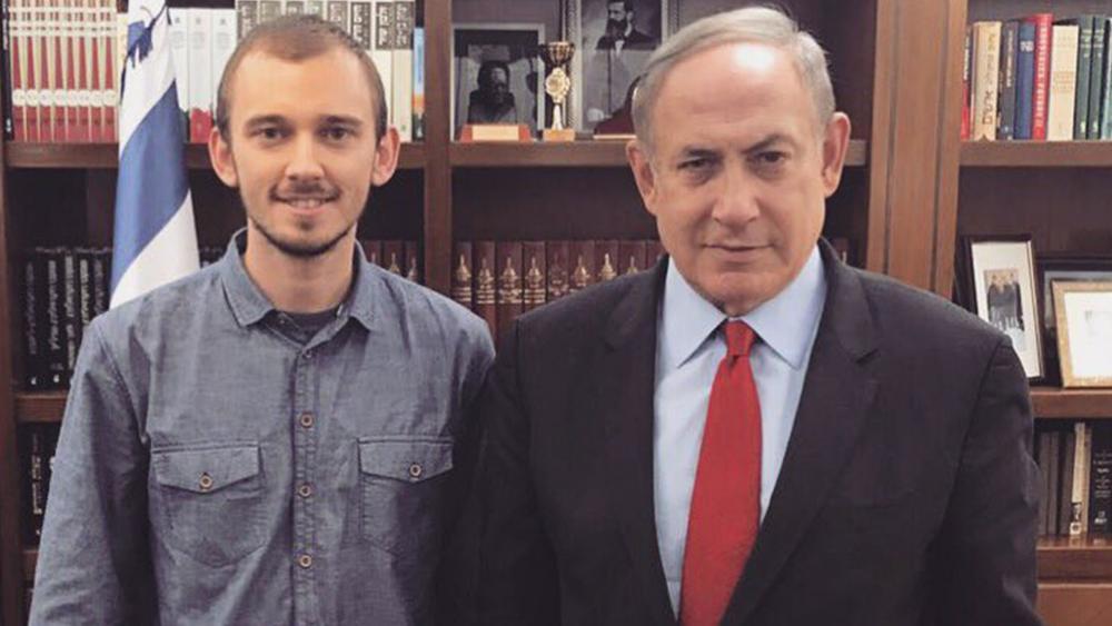 Hananya Naftali with Israeli Prime Minister Benjamin Netanyahu