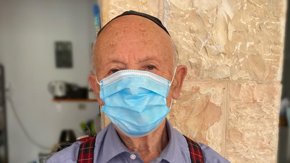 Holocaust Survivor in Quarantine in Jerusalem