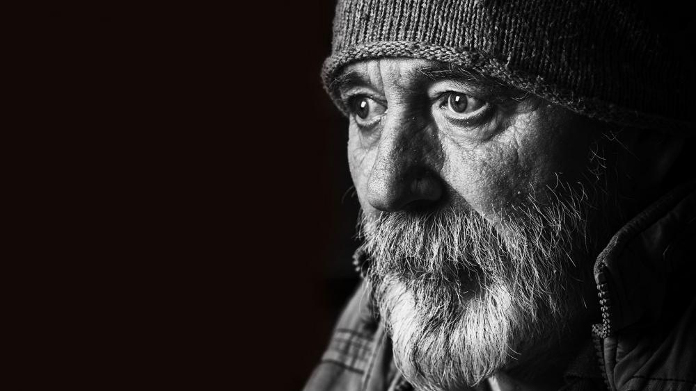 Homeless Old Man AS